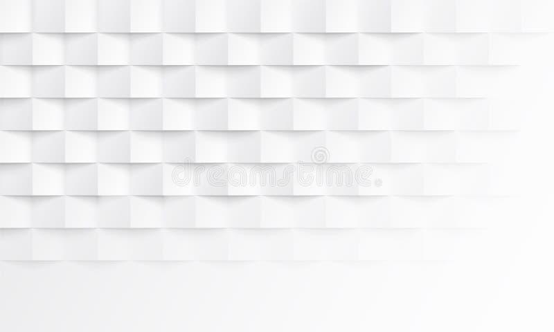 Fondo bianco astratto con struttura dell'ombra del mattone Contesto geometrico di interior design di vettore illustrazione vettoriale