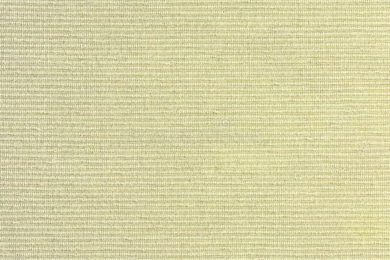 Fondo in bianco astratto per le disposizioni Primo piano giallo spesso del tessuto da arredamento fotografie stock