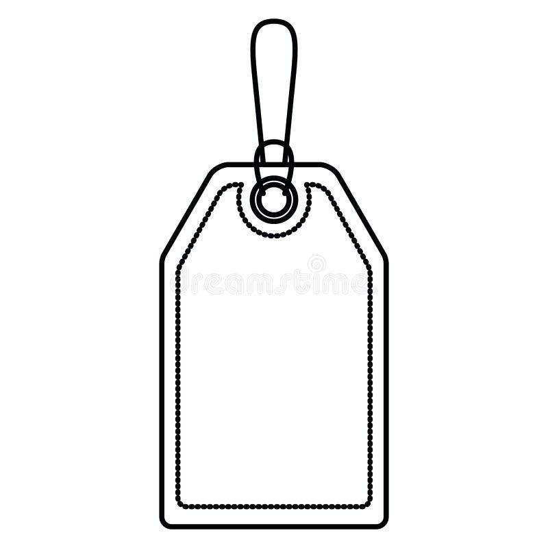 Fondo bianco con la siluetta monocromatica dell'etichetta del segno illustrazione di stock