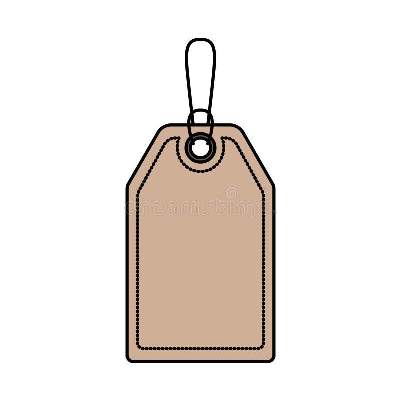 Fondo bianco con la siluetta variopinta dell'etichetta del segno con il contorno spesso illustrazione vettoriale