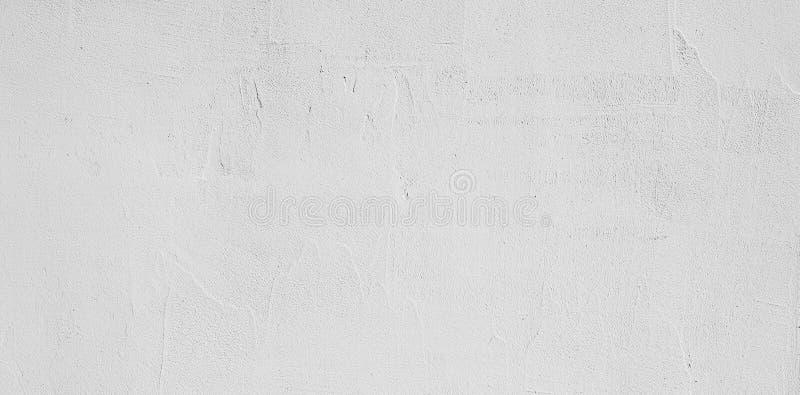 Fondo bianco decorativo della parete dello stucco di lerciume astratto fotografia stock libera da diritti