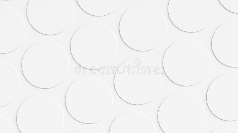Fondo bianco del cerchio immagini stock