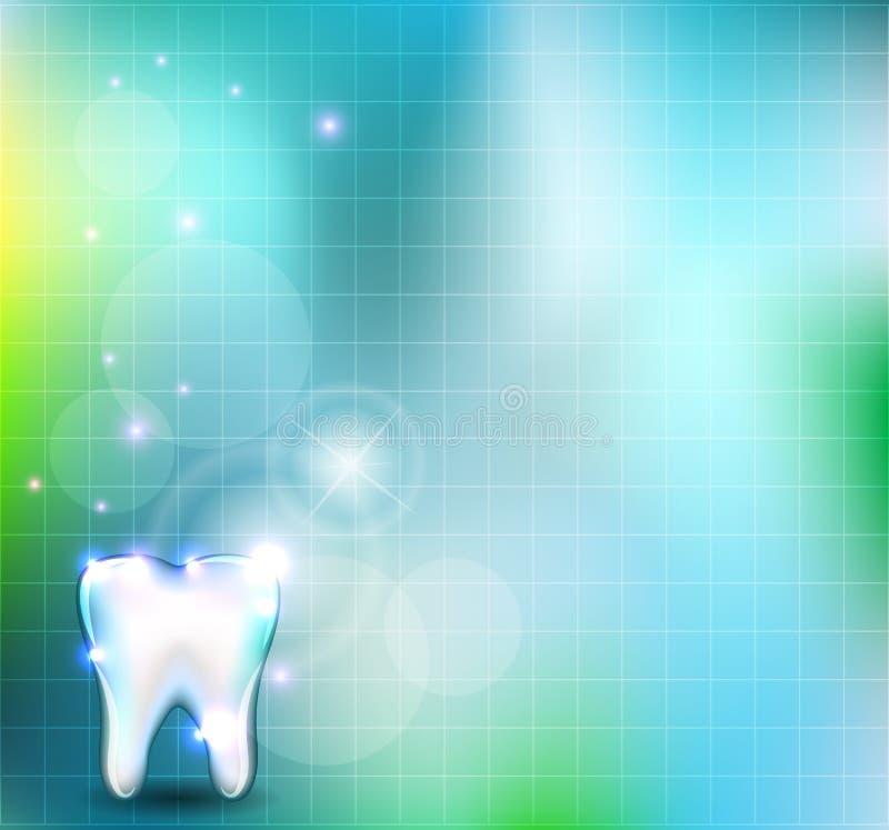 Fondo bianco del dente illustrazione di stock
