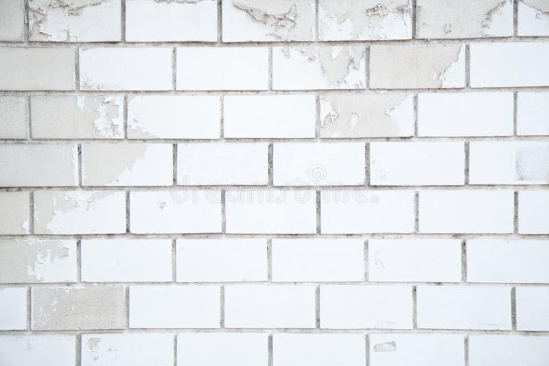 Fondo bianco del mattone, primo piano di vecchio muro di mattoni immagini stock