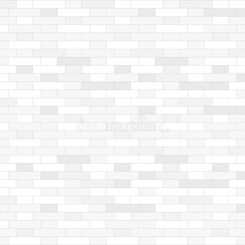 Fondo bianco del muro di mattoni - illustrazione di vettore illustrazione vettoriale