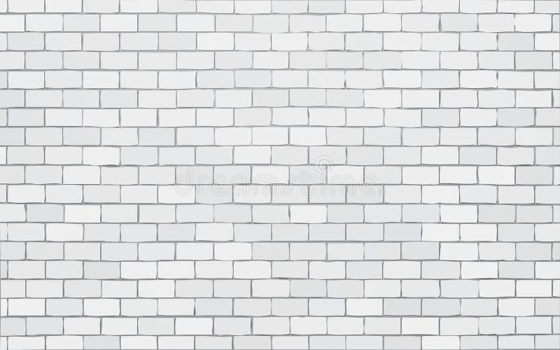 Fondo bianco dell'illustrazione di vettore del muro di mattoni royalty illustrazione gratis