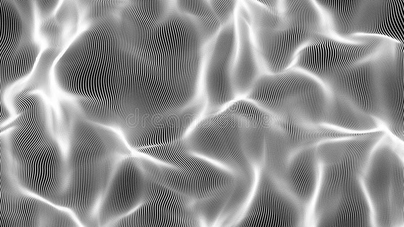 Fondo bianco dell'illustrazione dell'onda della particella royalty illustrazione gratis