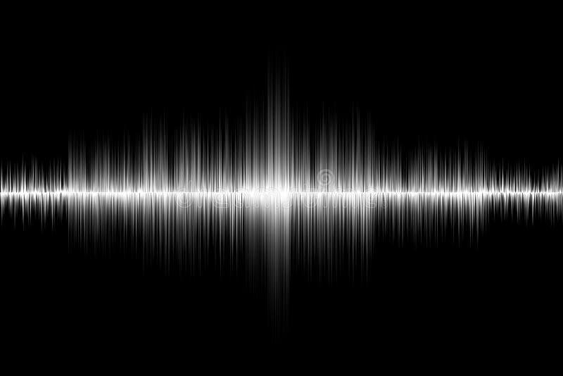 Fondo bianco dell'onda sonora fotografie stock libere da diritti