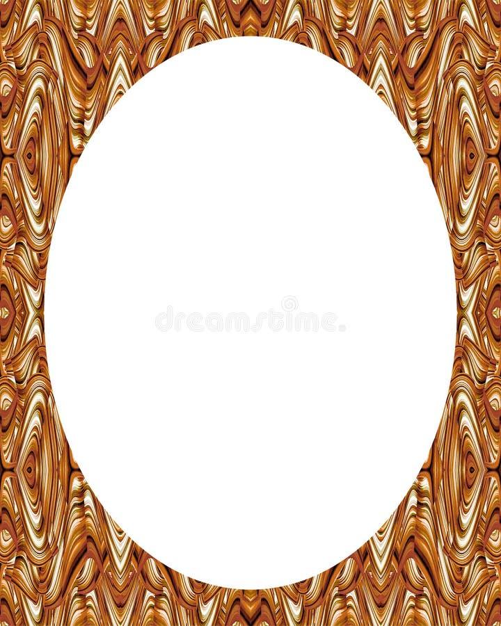 Fondo bianco della struttura del cerchio con i confini decorati illustrazione di stock