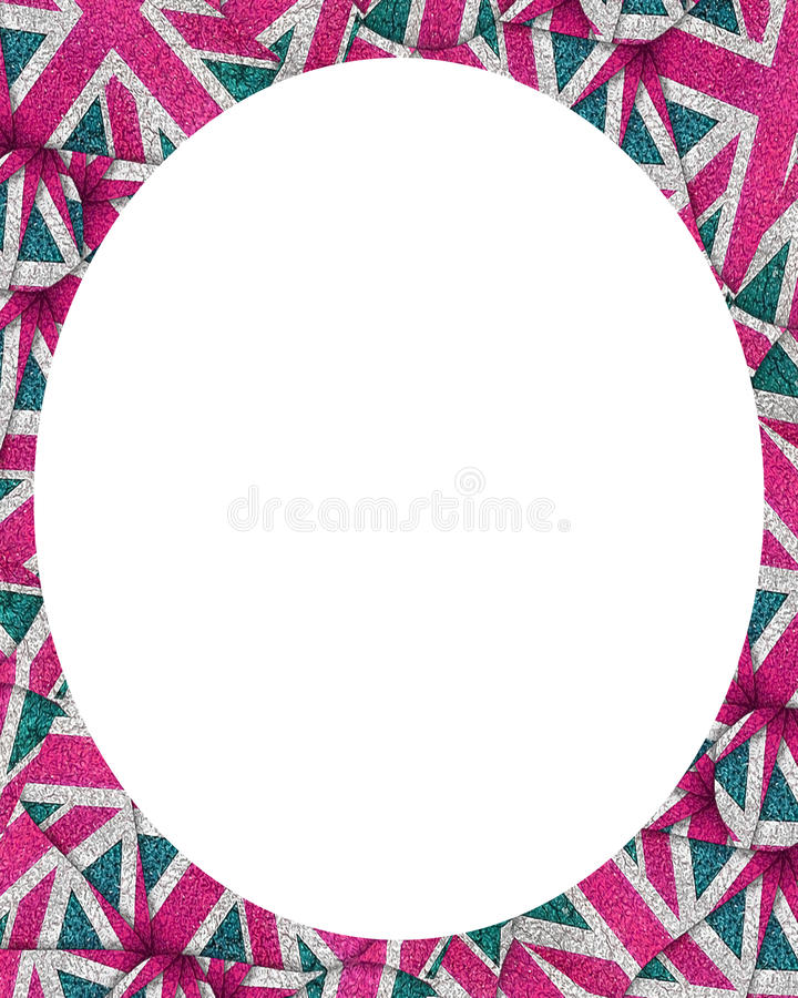 Fondo bianco della struttura del cerchio con i confini decorati di progettazione illustrazione vettoriale