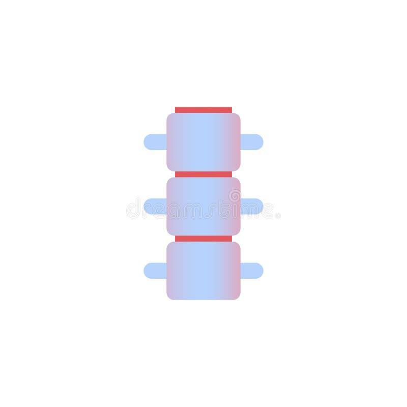 Fondo bianco di concetto medico di sanità di anatomia dell'organo umano dell'icona della spina dorsale illustrazione di stock