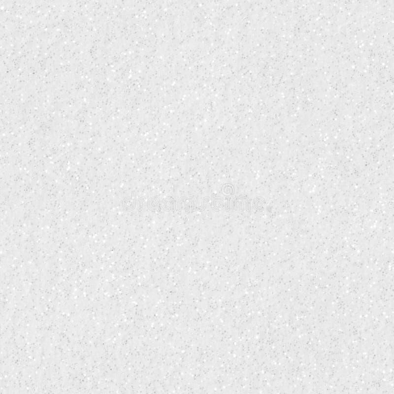 Fondo bianco di natale di struttura di scintillio Testo quadrato senza cuciture fotografia stock libera da diritti