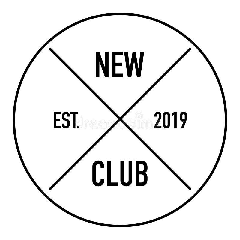 Fondo bianco di nuovo del club di britannici logo di stile illustrazione vettoriale
