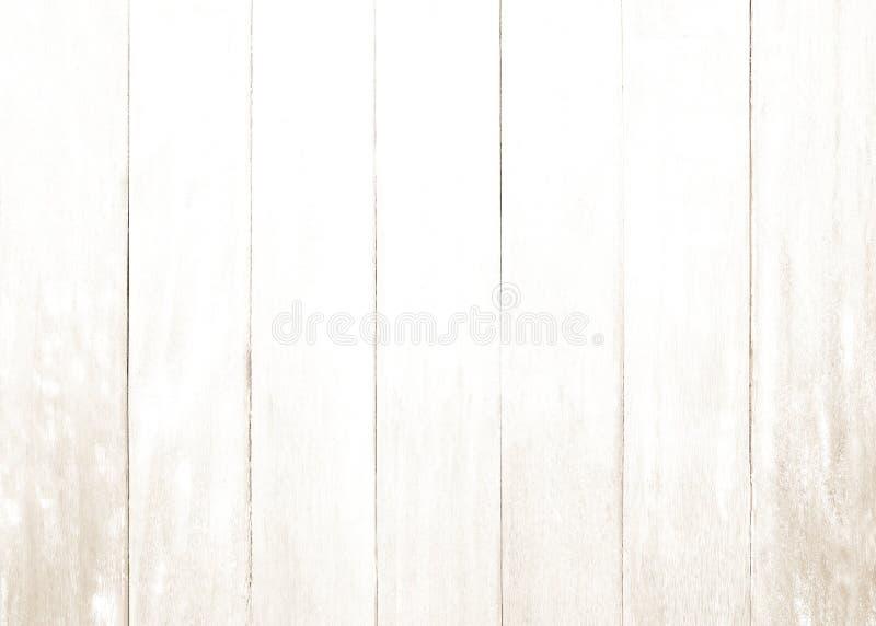 Fondo bianco di struttura del pavimento del compensato parete dipinta pastello della superficie del modello della plancia; immagini stock libere da diritti