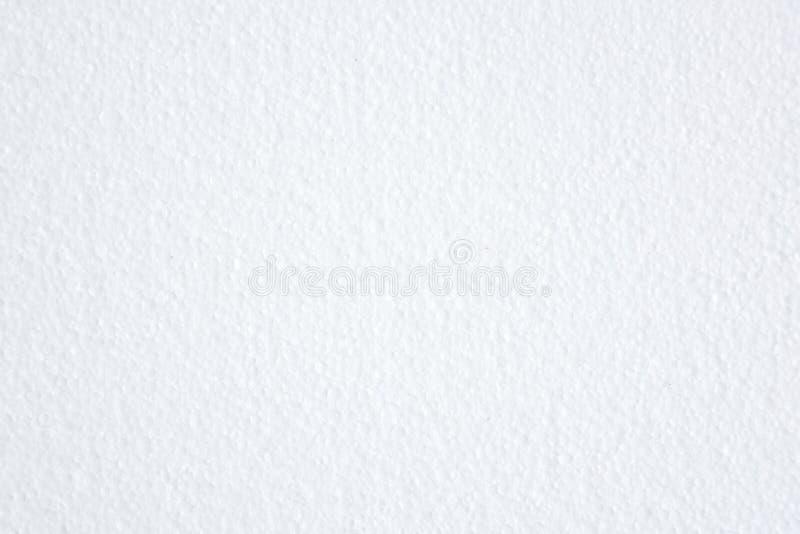 Fondo bianco di struttura del polistirene espanso fotografia stock
