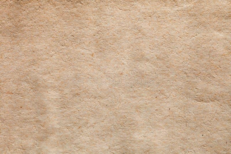 Fondo in bianco di struttura della carta della pagina del vecchio libro Documento vuoto del modello d'annata di colore di Brown C fotografie stock libere da diritti