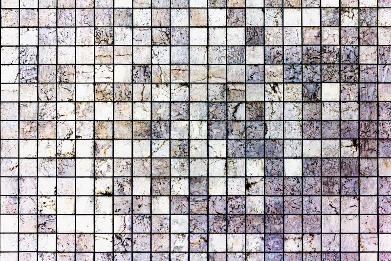Fondo bianco di struttura di mosaico della marmo-pietra fotografie stock libere da diritti
