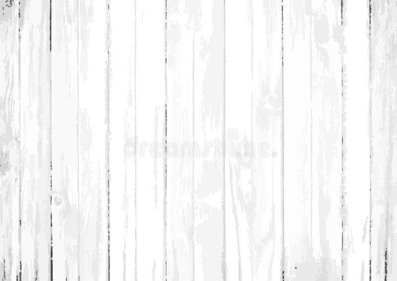 Fondo bianco di vettore con gli ampi bordi di legno illustrazione di stock