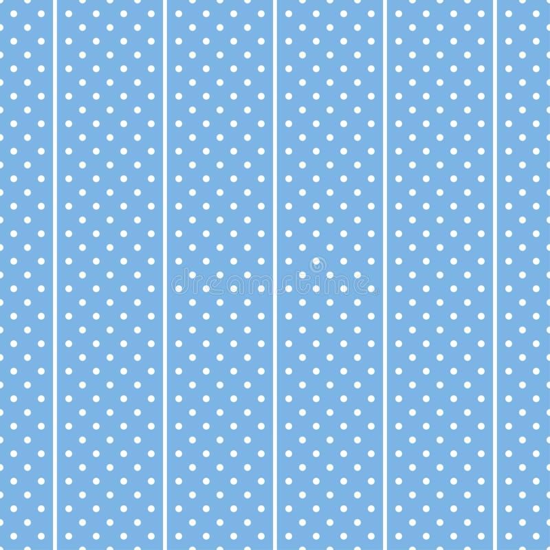 Fondo bianco e blu del tessuto dei pois illustrazione di stock