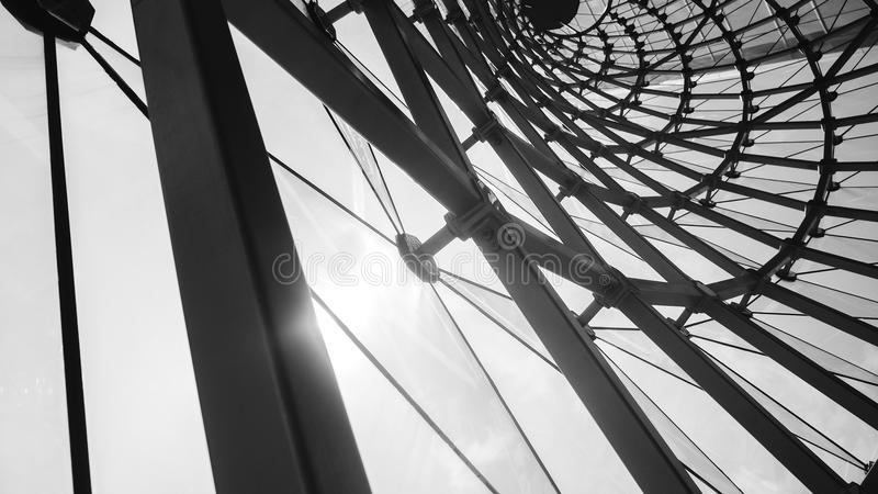 fondo in bianco e nero architettonico astratto fotografia stock