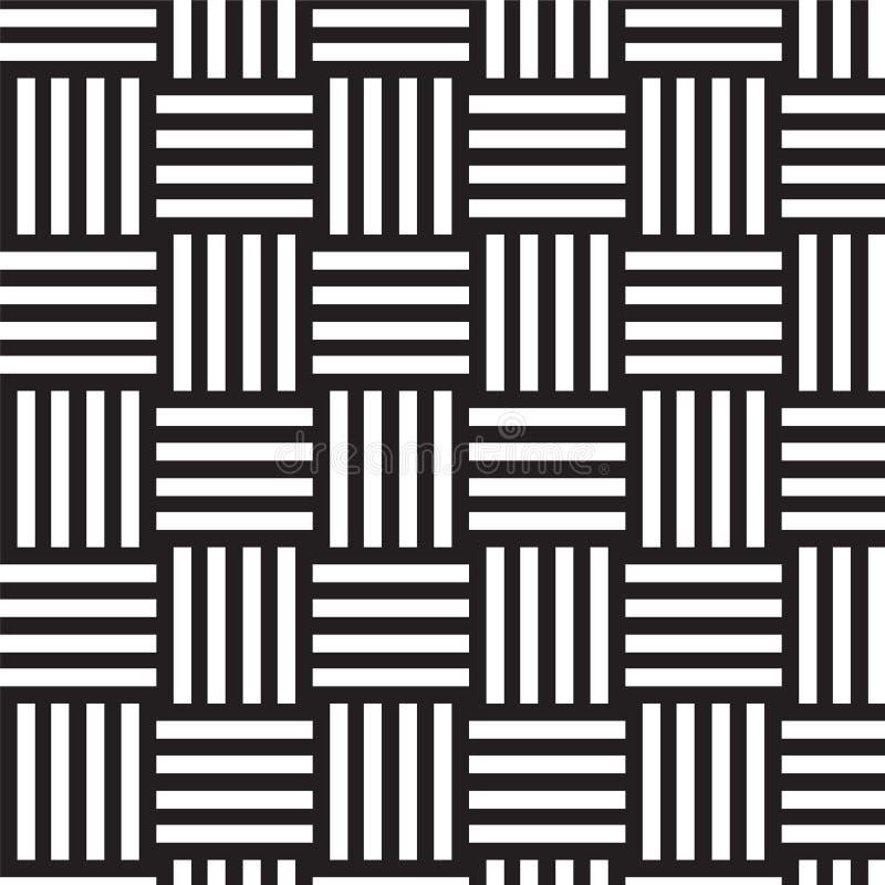 Fondo in bianco e nero del modello del tessuto illustrazione di stock