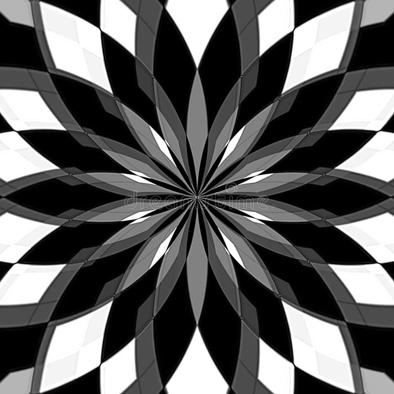 Fondo in bianco e nero dell'estratto della pittura di Digital illustrazione vettoriale