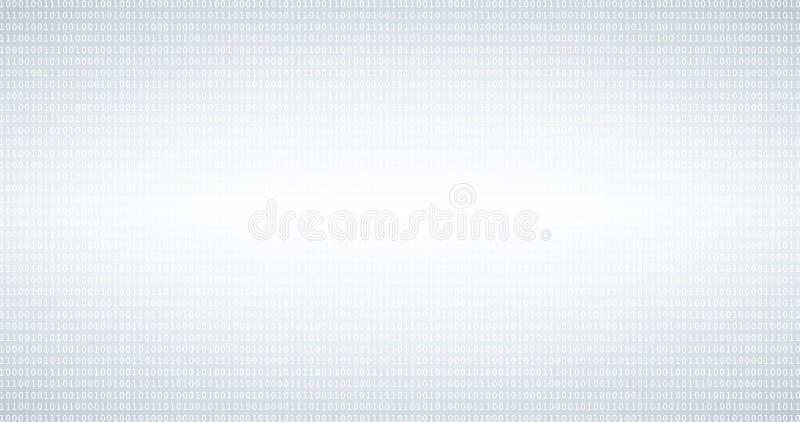 Fondo in bianco e nero di codice binario con le cifre sullo schermo fotografie stock