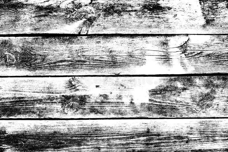 Fondo in bianco e nero di legno nello stile di lerciume, fondo di legno di struttura, superficie strutturata, contesto naturale c illustrazione vettoriale