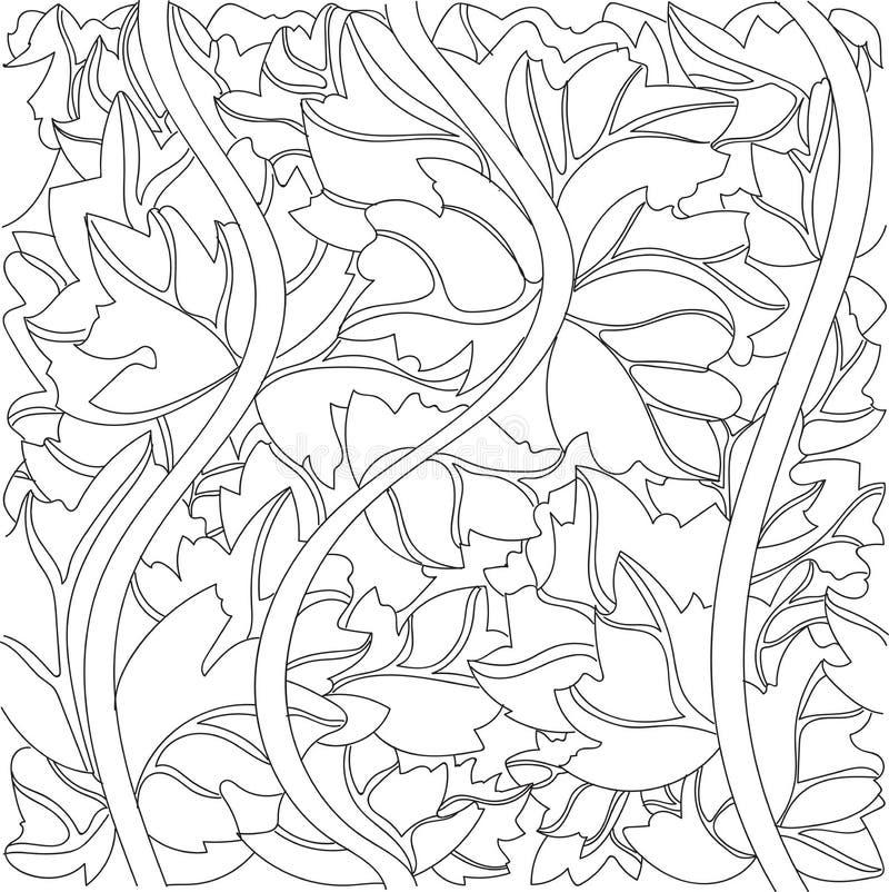 Fondo in bianco e nero di vettore delle foglie dell'edera fotografie stock libere da diritti