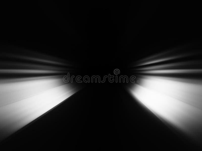 Fondo in bianco e nero diagonale del bokeh dei fasci illustrazione di stock
