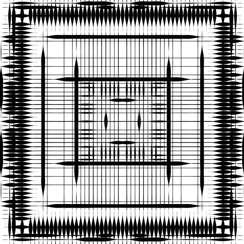 Fondo in bianco e nero punteggiato estratto Modello afflitto semitono Struttura di lerciume di piccoli punti e particelle rotondi illustrazione di stock