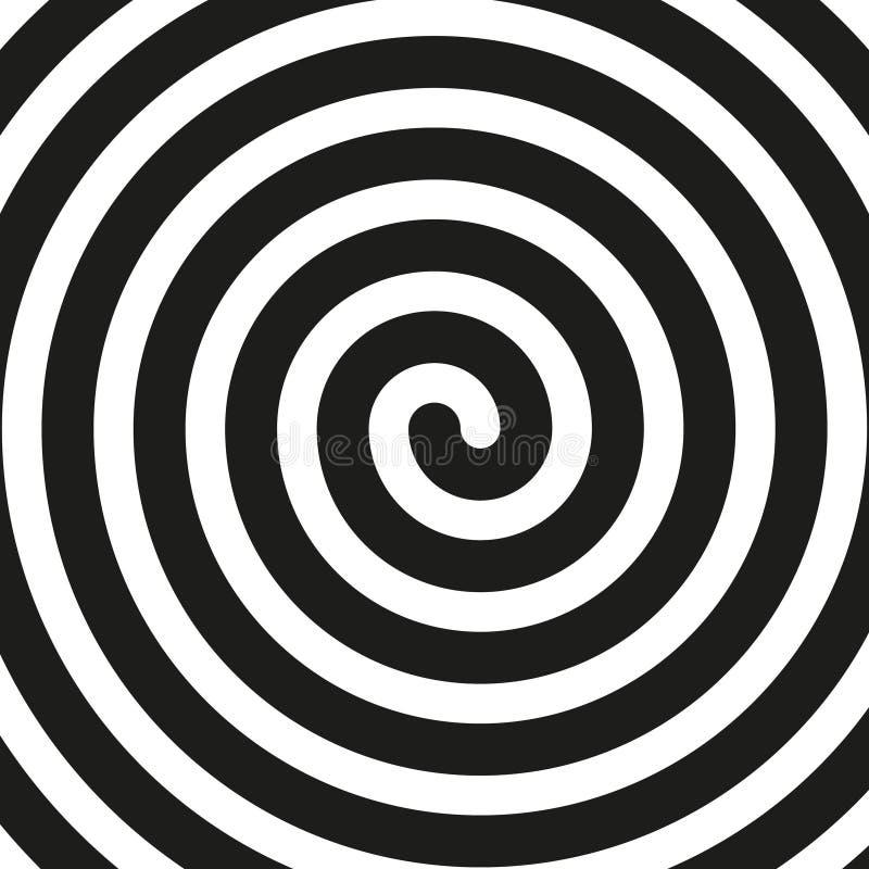 Fondo in bianco e nero semplice di vettore Spirale nel retro stile di Pop art royalty illustrazione gratis