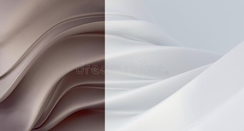 Fondo bianco elegante e di lusso con il segmento grigio-braun della perla Fondo costoso per il biglietto da visita Fondo per i co illustrazione vettoriale