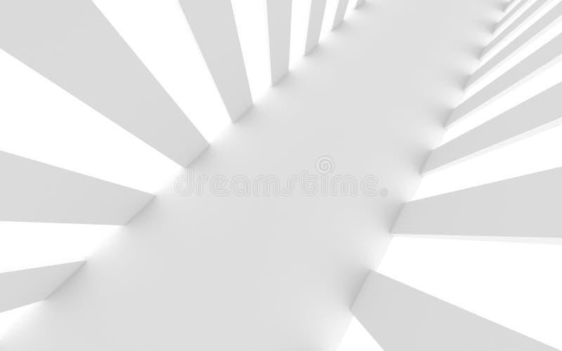 Fondo bianco futuristico illustrazione vettoriale