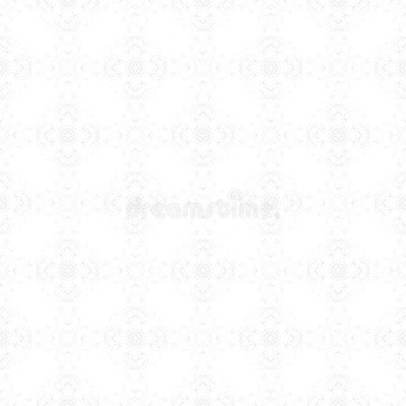 Fondo bianco-grigio leggero Stampa del tessuto Modello geometrico nella ripetizione Superficie senza cuciture di lerciume, orname illustrazione di stock