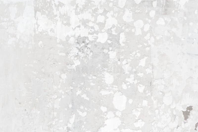 Fondo bianco incrinato della parete o struttura, vista superiore immagine stock libera da diritti