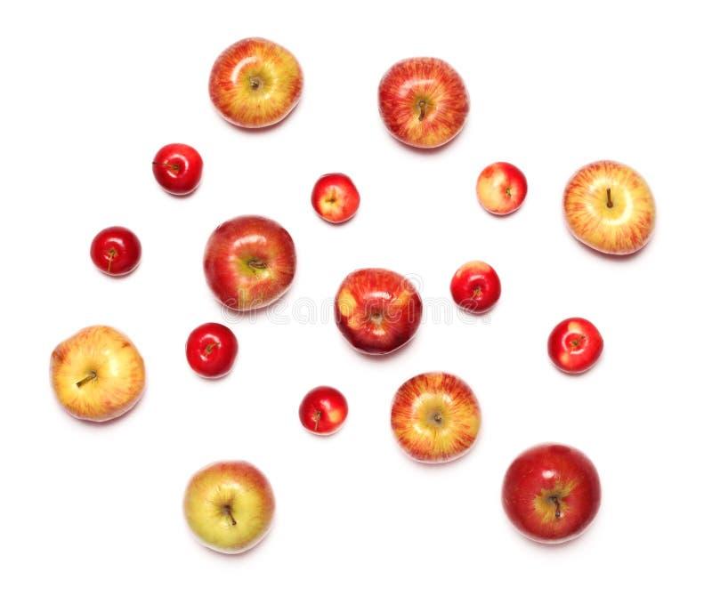 fondo bianco isolato frutti di molte mele immagini stock libere da diritti