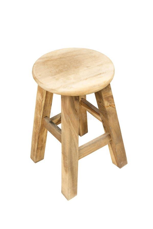 Fondo bianco isolato sedia di legno rotonda immagini stock libere da diritti