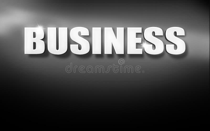 Fondo bianco nero del testo 3D di affari royalty illustrazione gratis