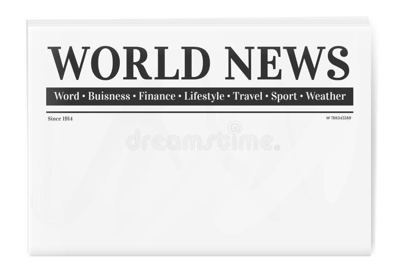 Fondo in bianco per il modello della pagina di notizie illustrazione vettoriale