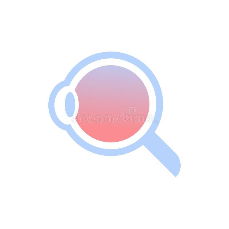 Fondo bianco piano del bulbo oculare di anatomia dell'occhio umano della struttura interna dell'icona di concetto medico dettagli illustrazione vettoriale