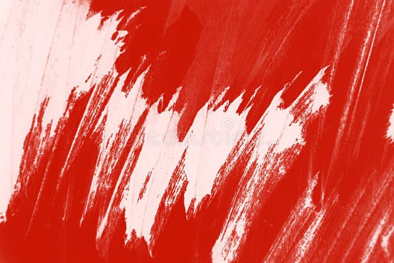 Fondo bianco rosso dei colpi del pennello immagine stock libera da diritti