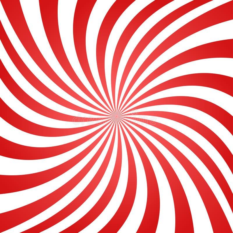 Fondo bianco rosso del raggio di spirale di estate royalty illustrazione gratis
