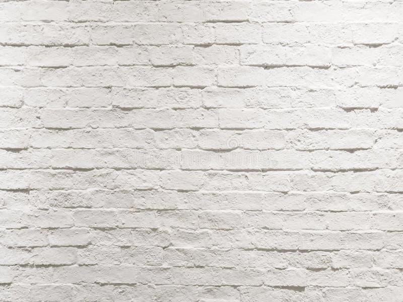 Fondo bianco strutturato stagionato vuoto astratto del muro di mattoni fotografie stock