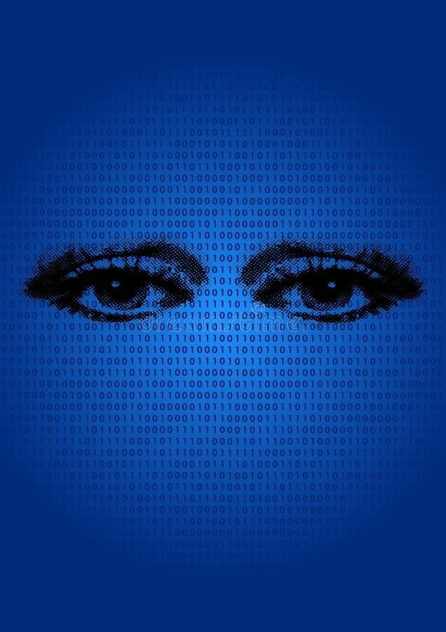 Fondo binario con los ojos libre illustration