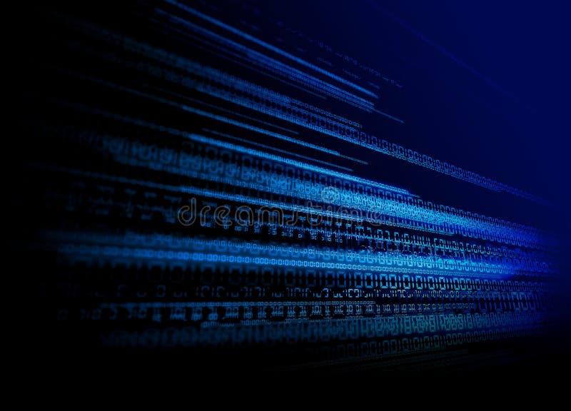 Fondo binario de la tecnología ilustración del vector