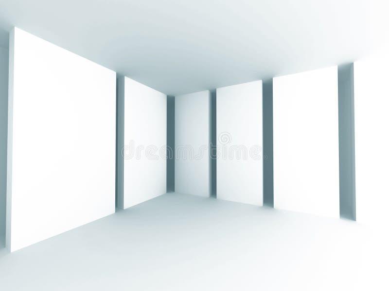 Fondo blanco abstracto de la arquitectura Sitio vacío Interi moderno foto de archivo libre de regalías