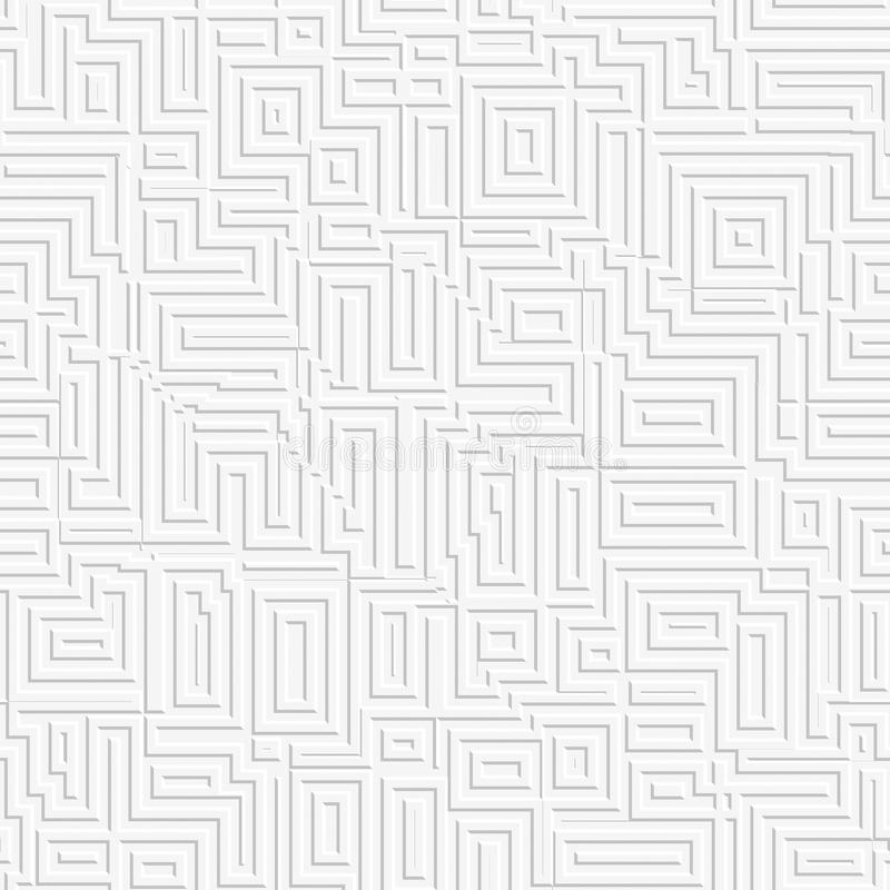 Fondo blanco abstracto del laberinto Modelo inconsútil libre illustration