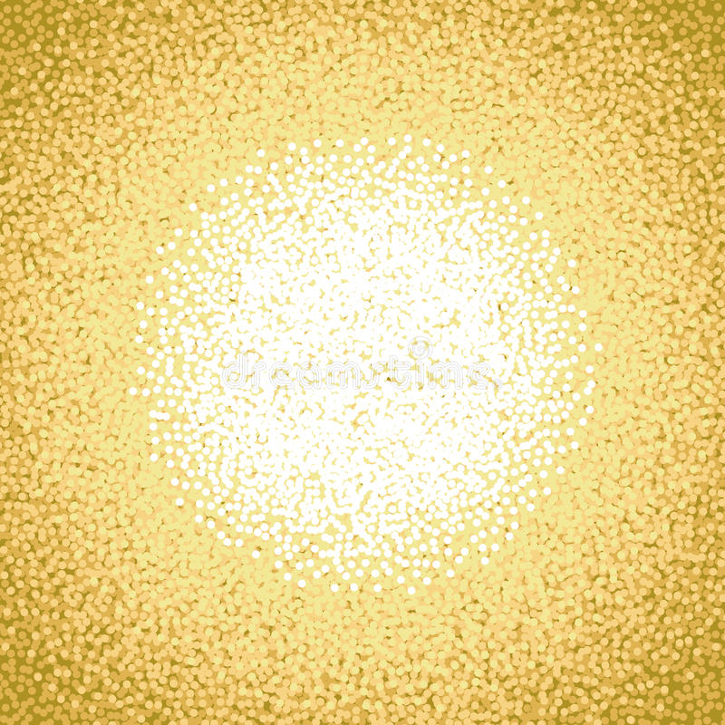 Fondo blanco amarillo-naranja de la escama de la nieve del Año Nuevo 2017 del oro El círculo de la Navidad puntea el fondo del mo ilustración del vector