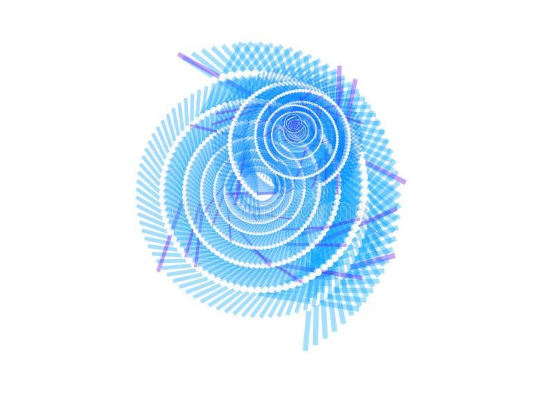 Fondo blanco azul abstracto del remolino libre illustration